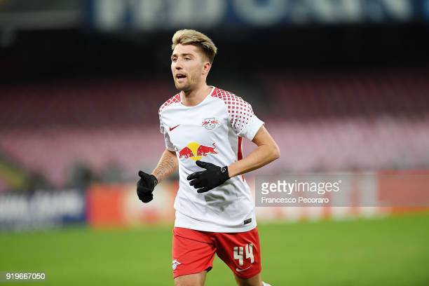 Kevin Kampl of RB Leipzig in action during UEFA Europa League Round of 32 match between Napoli and RB Leipzig at the Stadio San Paolo on February 15...