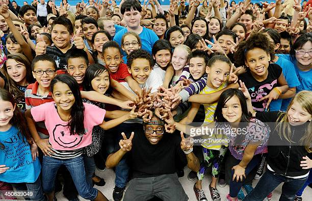 Kevin KB Brewer of JABBAWOCKEEZ teams up with Nevada Ballet Theatre's FUTURE Dance Program as a guest teacher at Harvey Dondero Elementary School on...