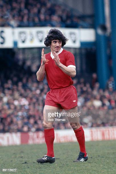 Kevin Keegan in action for Liverpool during a match against Queens Park Rangers at Loftus Road in London circa 1977
