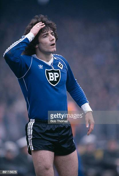 Kevin Keegan in action for SV Hamburg against FC Cologne circa 1979