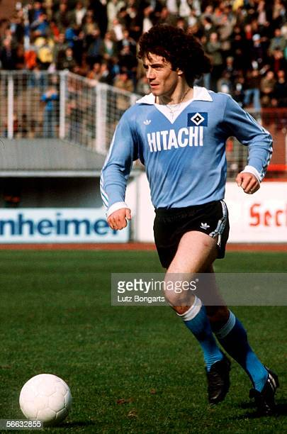Kevin Keegan of Hamburg in action during the Bundesliga match between Hamburger SV and Fortuna Dusseldorf at the Volksparkstadium on April 14 1979 in...
