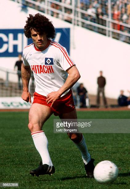 Kevin Keegan of Hamburg in action during the Bundesliga match between Hamburger SV and Eintracht Frankfurt at the Volksparkstadium on May 19 1979 in...