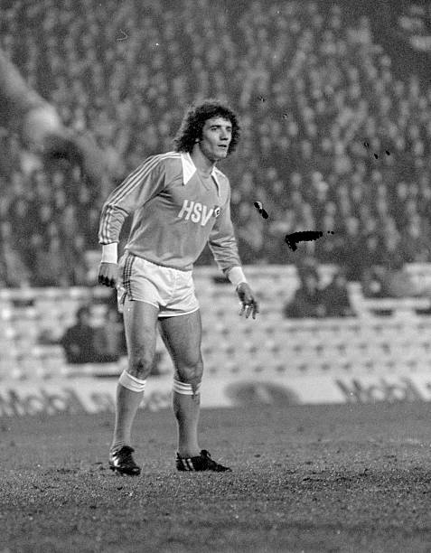Kevin Keegan of Hamburg SV in action during the UEFA European Super Cup 2nd Leg match between Liverpool and Hamburg SV held on December 6, 1977 at...