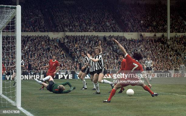 Kevin Keegan of Liverpool about to score his second goal against Newcastle United during the FA Cup Final at Wembley Stadium in London on 4th May...