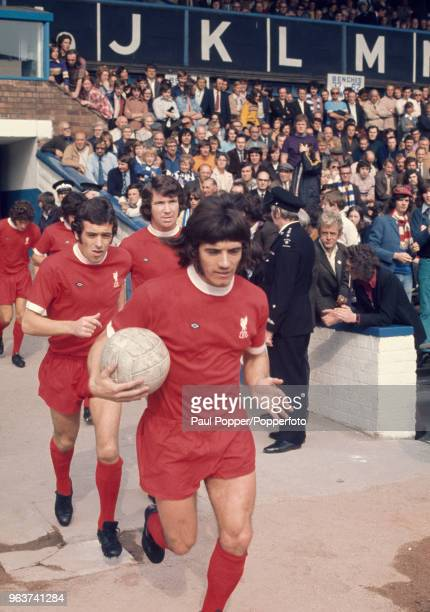 Kevin Keegan of Liverpool leads out the team before the Football League Division One match between Birmingham City and Liverpool at St Andrews on...