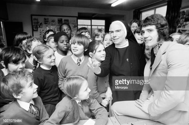Kevin Keegan the England and Liverpool football idol returns to his old school St Francis Xavier's primary school in Doncaster where he meets his...
