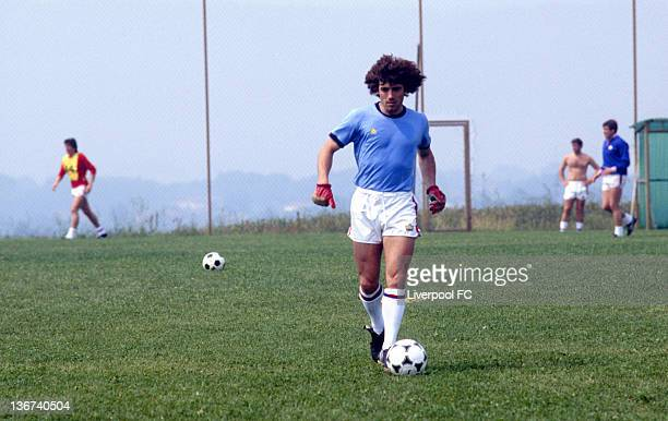 Kevin Keegan trains with the England World Cup squad on June 10 1982 at the Los Tamarises Hotel in Playa de Ereaga Spain Only a few days later Kevin...
