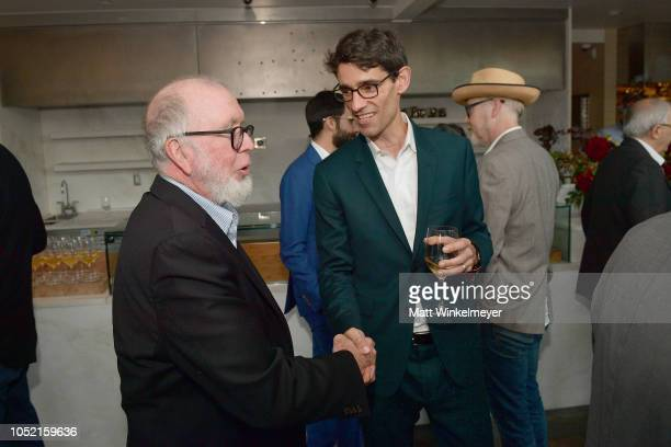 Kevin Kelly and Nicholas Thompson attend VIP Dinner For WIRED's 25th Anniversary Hosted By Nicholas Thompson And Anna Wintour at Tartine Manufactory...