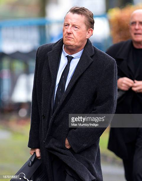 Kevin Kennedy attends the funeral of Coronation Street actor Bill Tarmey at the Albion United Reformed Church on November 27 2012 in Ashton under...