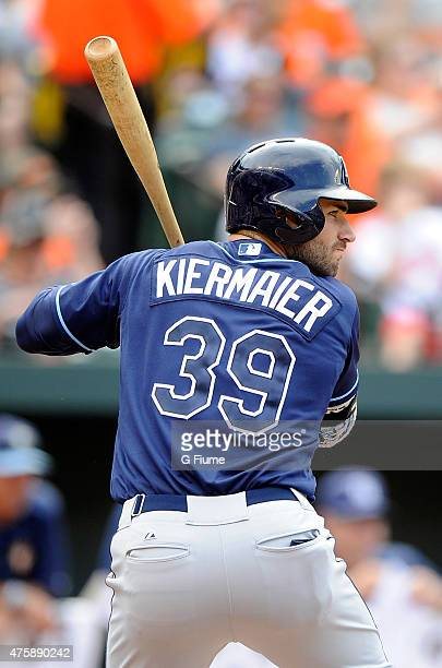 Kevin Kiermaier of the Tampa Bay Rays bats against the Baltimore Orioles at Oriole Park at Camden Yards on May 31 2015 in Baltimore Maryland