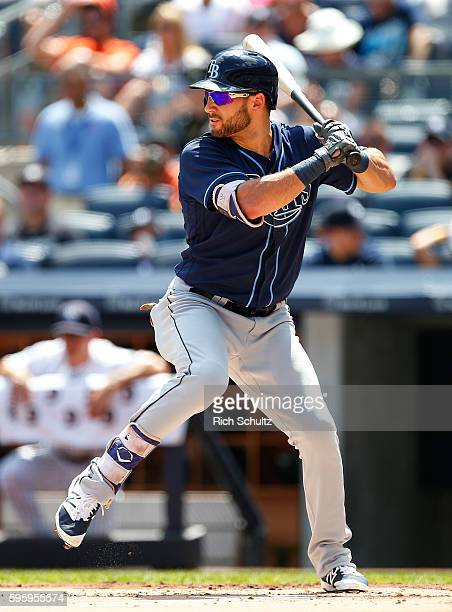 Kevin Kiermaier of the Tampa Bay Rays delivers a pitch against the New York Yankees during the first inning of a game at Yankee Stadium on August 14...