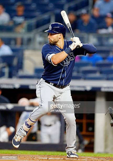 Kevin Kiermaier of the Tampa Bay Rays in action against the New York Yankees at Yankee Stadium on September 8 2016 in the Bronx borough of New York...