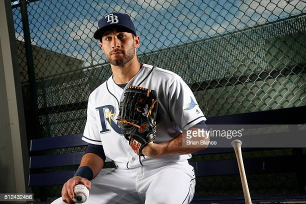 Kevin Kiermaier of the Tampa Bay Rays poses for a photo during the Rays' photo day on February 25 2016 at Charlotte Sports Park in Port Charlotte...