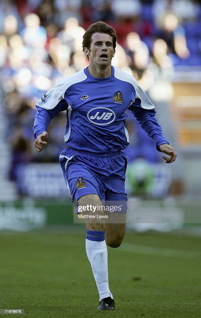 Kevin Kilbane of Wigan Athletic in action during the Barclays Premiership match between Wigan Athletic and Watford at the JJB Stadium on September 23, 2006 in Wigan, England.