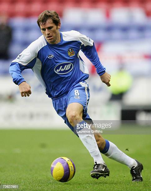 Kevin Kilbane of Wigan in action during the Barclays Premiership match between Wigan Athletic and Aston Villa at The JJB Stadium on November 19 2006...