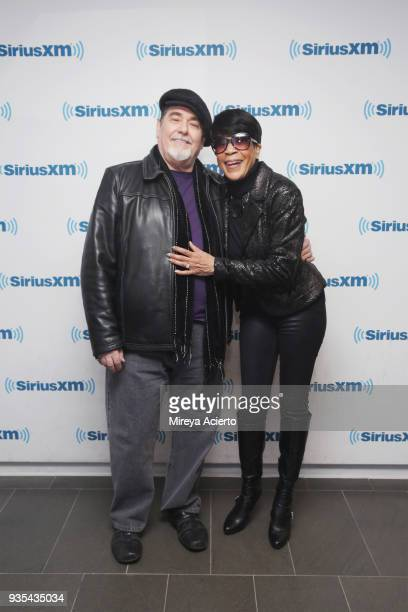 Kevin Kiley and singer/songwriter Bettye Lavette visit SiriusXM Studios on March 20 2018 in New York City