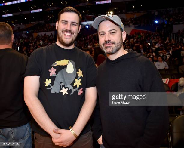 Kevin Kimmel and Jimmy Kimmel attend the 67th NBA AllStar Game Team LeBron Vs Team Stephen at Staples Center on February 18 2018 in Los Angeles...