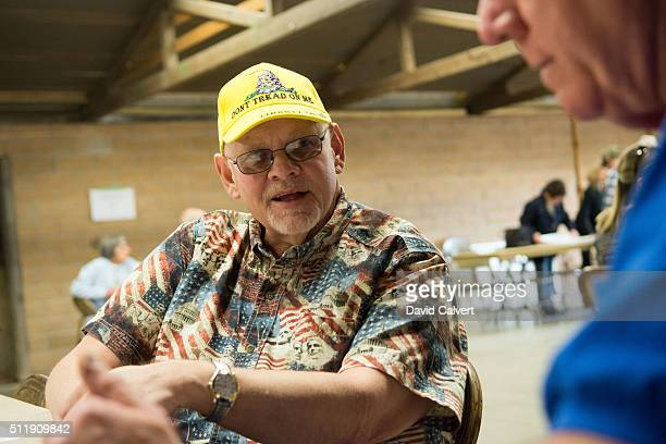 Kevin Kirkland participates in the Republican caucus at the Churchill County Fairgrounds on February 23 2016 in Fallon Nevada The remaining...