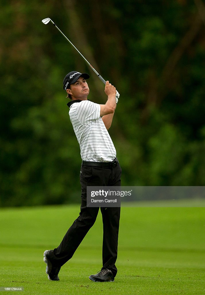 Kevin Kisner of the United States plays an approach shot at the 17th hole during the second round of the 2013 OHL Classic at Mayakoba, played at El Camaleon Golf Club on November 15, 2013 in Playa Del Carmen, Mexico.