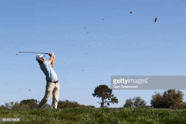 Kevin Kisner of the United States plays his shot from the 14th tee during the third round of the Arnold Palmer Invitational Presented By MasterCard...