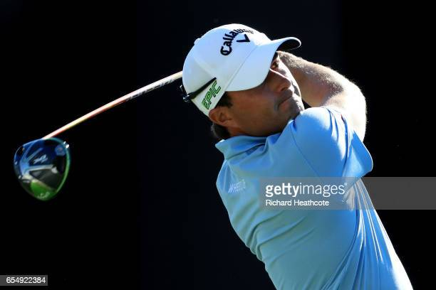 Kevin Kisner of the United States plays his shot from the 18th tee during the third round of the Arnold Palmer Invitational Presented By MasterCard...
