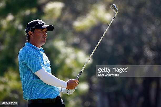 Kevin Kisner plays a shot on the 17th hole during the first round of the Valspar Championship at Innisbrook Resort and Golf Club on March 13 2014 in...