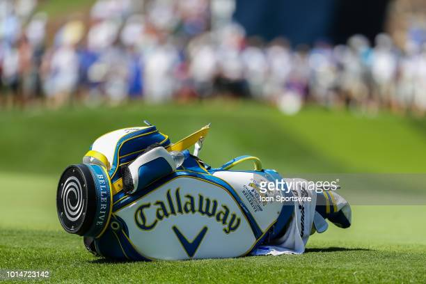 Kevin Kisner's bag lays on the third green during Round 2 of the PGA Championship August 10 at Bellerive Country Club in St Louis MO