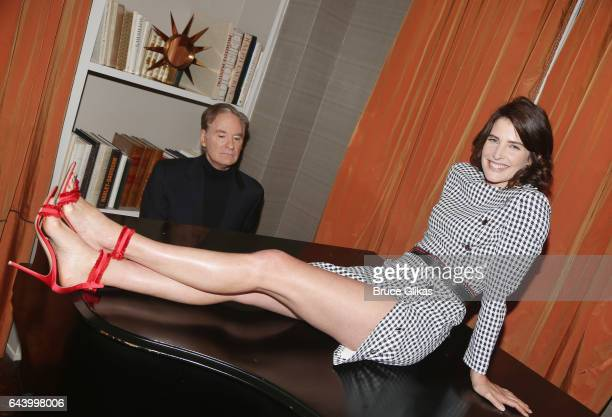 Kevin Kline and Cobie Smulders at a photo call for the revival of the classic play 'Present Laughter' at The Royal Suite at The Carlyle Hotel on...