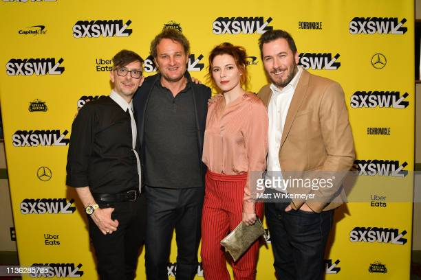 Kevin Kolsch Jason Clarke Amy Seimetz and Dennis Widmyer attend the 'Pet Sematary' Premiere 2019 SXSW Conference and Festivals at Paramount Theatre...