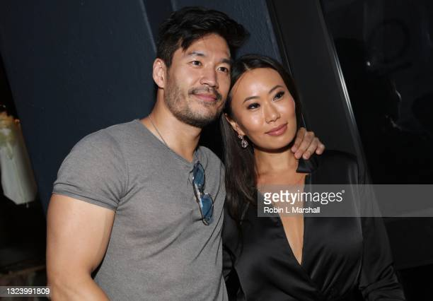 Kevin Kreider and Kelly Mi Li of Bling Empire attend Kyle Chan's Retail Store Opening at Kyle Chan Design on June 16, 2021 in Los Angeles, California.