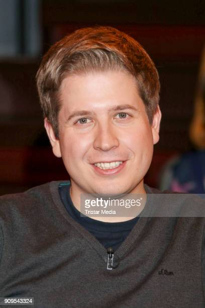 Kevin Kuehnert during the 'Markus Lanz' TV Show on January 24 2018 in Hamburg Germany