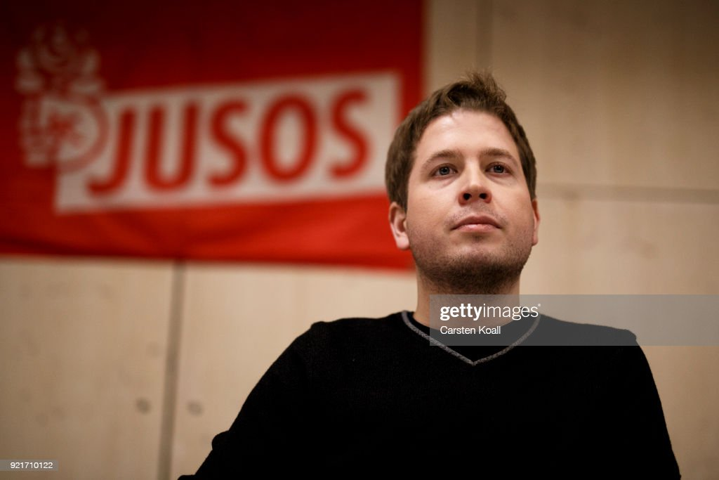 Jusos Anti-Coalition Tour Continues In Berlin : Foto di attualità