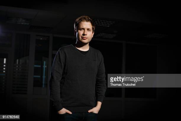 Kevin Kuehnert leader of the Juso youth organistation of Germany's social democrat SPD party poses during a portrait session on February 02 2018 in...
