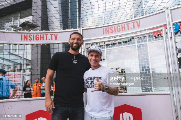 """Kevin Kuranyi and Edward van Gils attend the launch event for Insight TV's new show """"Streetkings in Jail"""" on September 17, 2019 in Munich, Germany."""