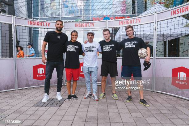 """Kevin Kuranyi, Aylin Yaren, Edward van Gils, Nils Effinghausen and Pascal Beausencourt attend the launch event for Insight TV's new show """"Streetkings..."""