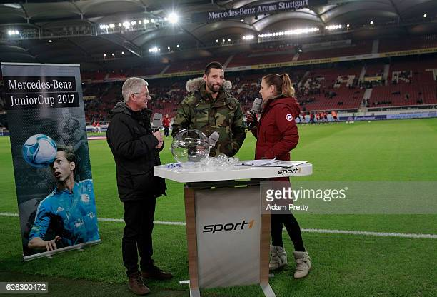 Kevin Kuranyi does the draw for the U19 MercedesBenz Junior Cup prior to the Second Bundesliga match between VfB Stuttgart and 1 FC Nuernberg at...