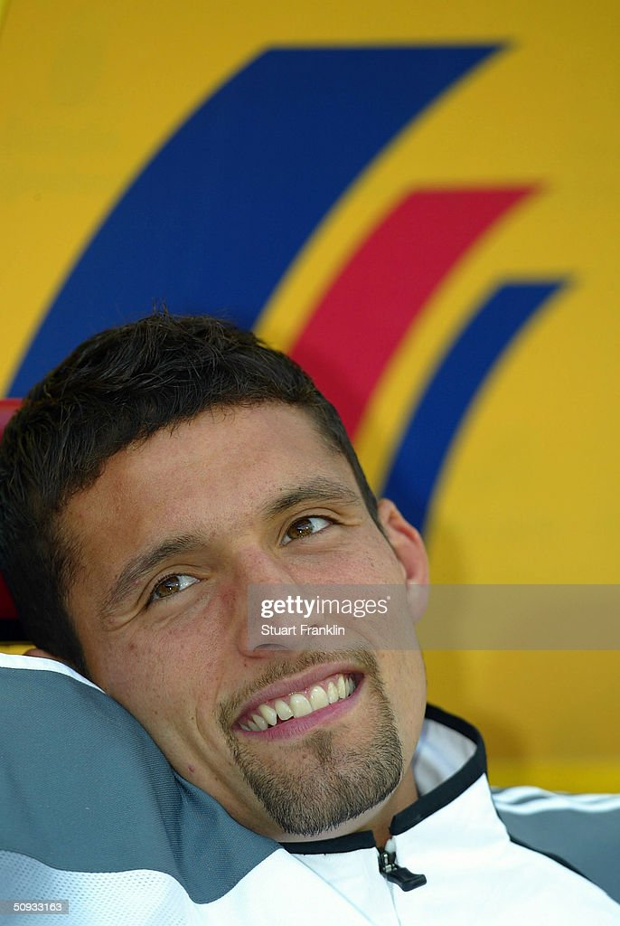 Kevin Kuranyi of Germany looks on at the International Friendly match between Germany and Hungary on June 6, 2004 at The Fritz-Walter Stadium in Kaiserlautern, Germany.