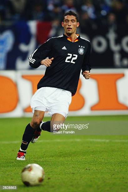 Kevin Kuranyi of Germany watches the ball during the International friendly match between Germany and France on November 15, 2003 at The Arena Auf...