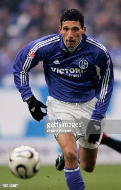 Kevin Kuranyi of Schalke runs with the ball during the Bundesliga match between FC Schalke 04 and 1. FC Nuremberg at the Veltins Arena on February...