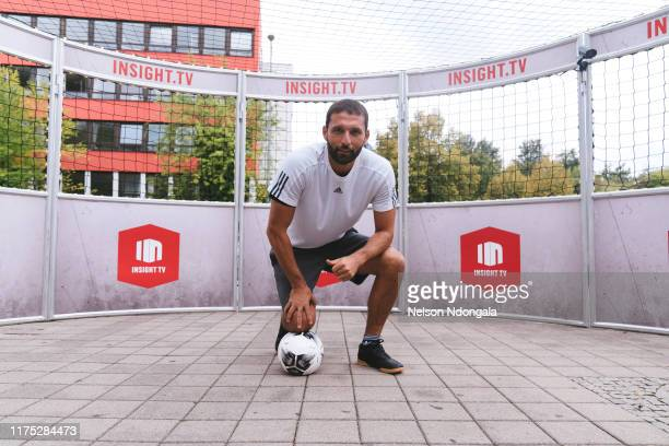 """Kevin Kuranyi performs during the launch event for Insight TV's new show """"Streetkings in Jail"""" on September 17, 2019 in Munich, Germany."""