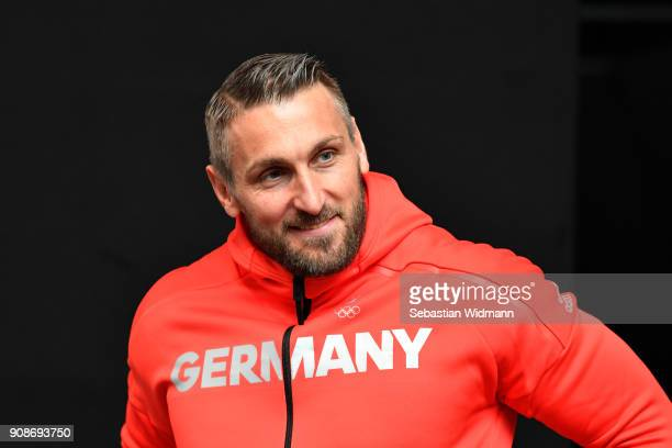 Kevin Kuske looks on during the 2018 PyeongChang Olympic Games German Team kit handover at Postpalast on January 22 2018 in Munich Germany