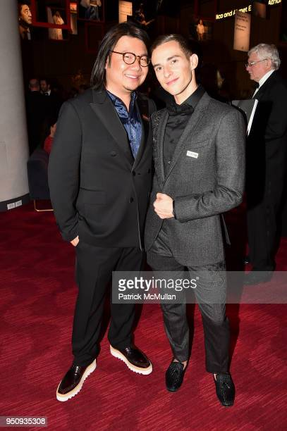 Kevin Kwan and Adam Rippon attend the 2018 TIME 100 Gala at Jazz at Lincoln Center on April 24 2018 in New York City