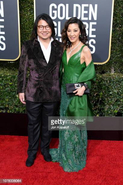 Kevin Kwan and Michelle Yeoh attends the 76th Annual Golden Globe Awards at The Beverly Hilton Hotel on January 6 2019 in Beverly Hills California