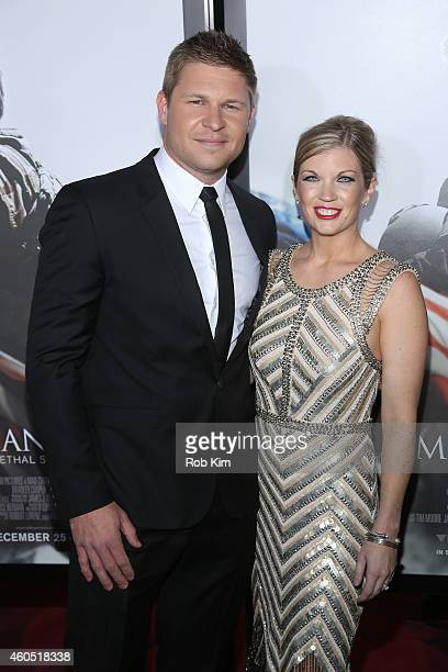 Kevin Lacz and Lindsey Lacz arrive at the American Sniper New York Premiere at Frederick P Rose Hall Jazz at Lincoln Center on December 15 2014 in...