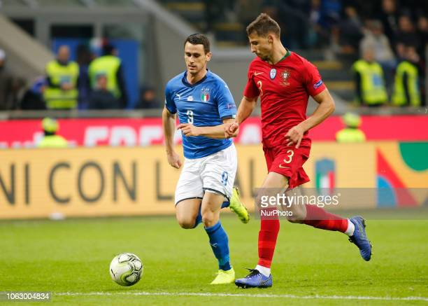 Kevin Lasagna during the Nation League match between Italia v Portogallo in Milan Giuseppe Meazza Stadio on November 17 2018