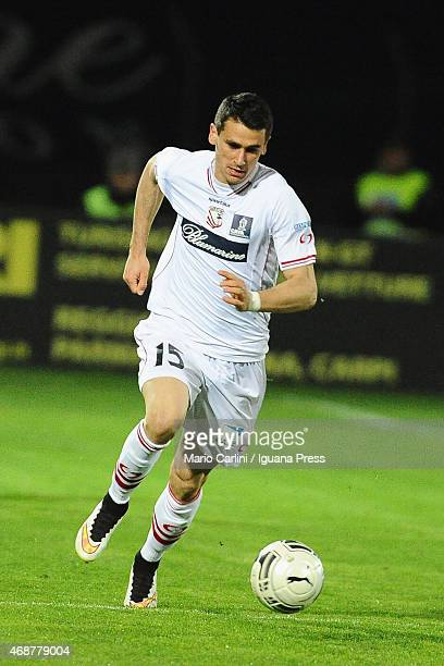 Kevin Lasagna of Carpi FC in action during the Serie B match between Carpi FC and Bologna FCat Stadio Sandro Cabassi on April 1, 2015 in Carpi, Italy.