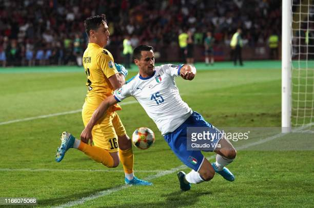 Kevin Lasagna of Italy in action during the UEFA Euro 2020 qualifier between Armenia and Italy at Republican Stadium after Vazgen Sargsyan on...