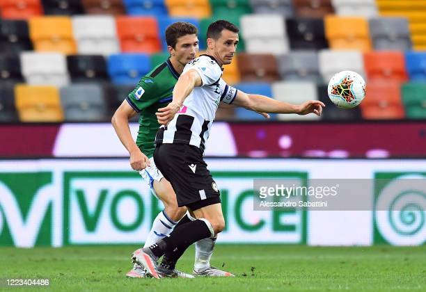 Kevin Lasagna of Udinese Calcio in action during the Serie A match between Udinese Calcio and Atalanta BC at Stadio Friuli on June 28 2020 in Udine...