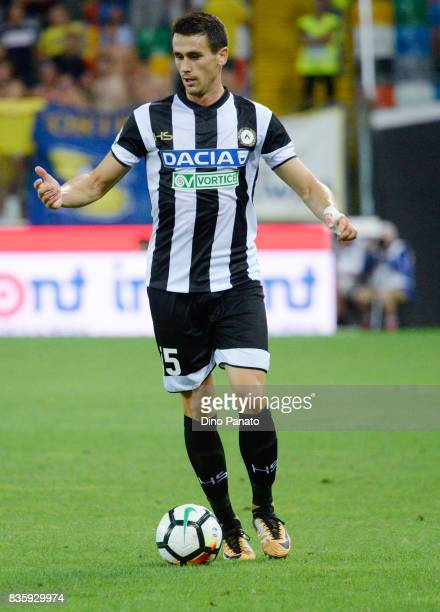 Kevin Lasagna of Udinese Calcio l in action during the Serie A match between Udinese Calcio and AC Chievo Verona at Friuli Stadium on August 20 2017...