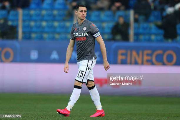 Kevin Lasagna of Udinese Calcio reacts during the Serie A match between Parma Calcio and Udinese Calcio at Stadio Ennio Tardini on January 26 2020 in...